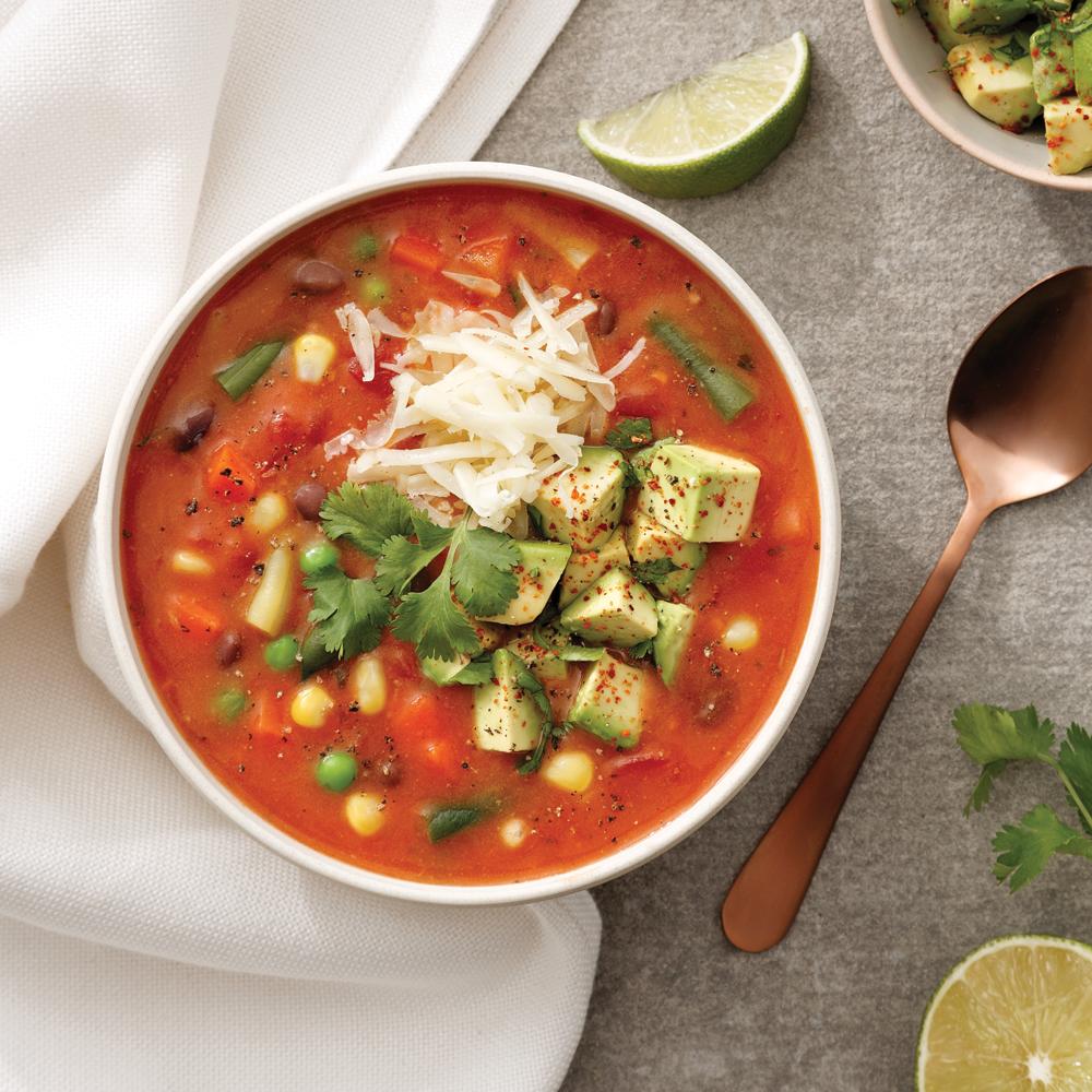 Soupe crémeuse à la mexicaine