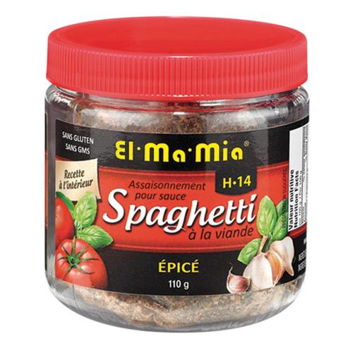 Assaisonnement épicé pour sauce à spaghetti à la viande H-14 de El-Ma-Mia
