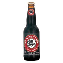 bouteille de bière noire à l'avoine St-Ambroise de 341 ml