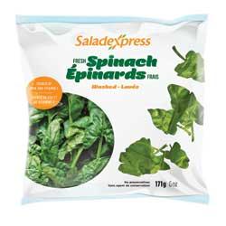 Épinards frais lavés Saladexpress