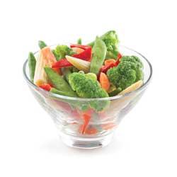 Mélange de légumes surgelés de type thaïlandais