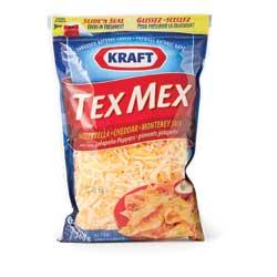 mélange de fromages râpés de type tex-mex