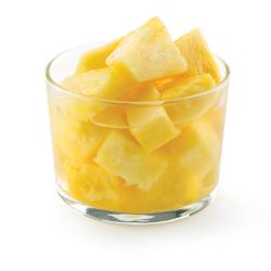 Ananas en morceaux, avec le jus