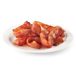 Tranches de bacon cuit