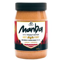 Beurre d'arachide épicé moyen ou fort Manba