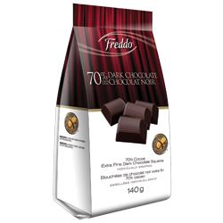 Bouchées de chocolat noir 70% de Freddo