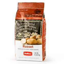 pommes de terre Russet Goldrush Patates Dolbec