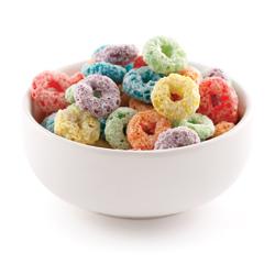 Céréales colorées (de type Froot Loops)