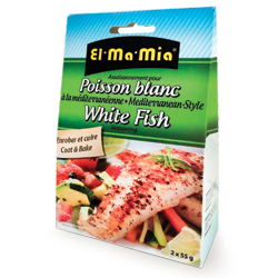 Assaisonnement pour poisson blanc à la méditerranéenne El-Ma-Mia