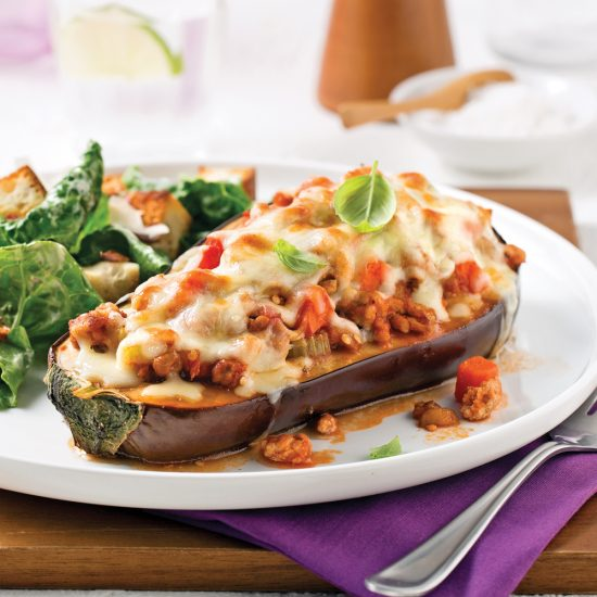Pork-stuffed Eggplants
