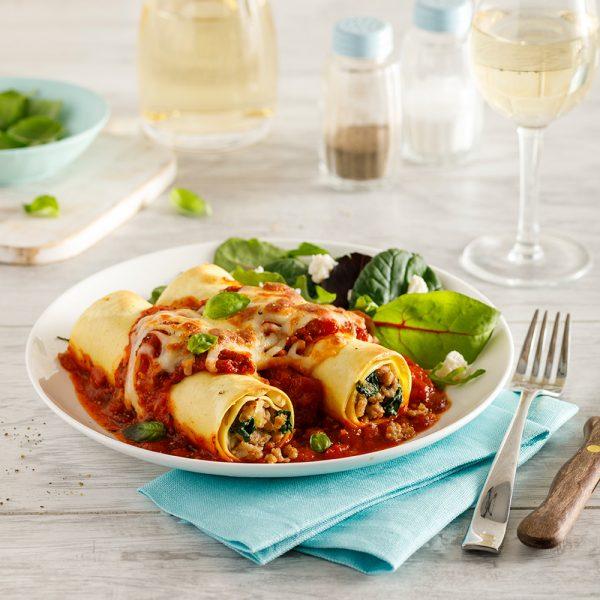 Cannelloni with Arrabbiata Sauce