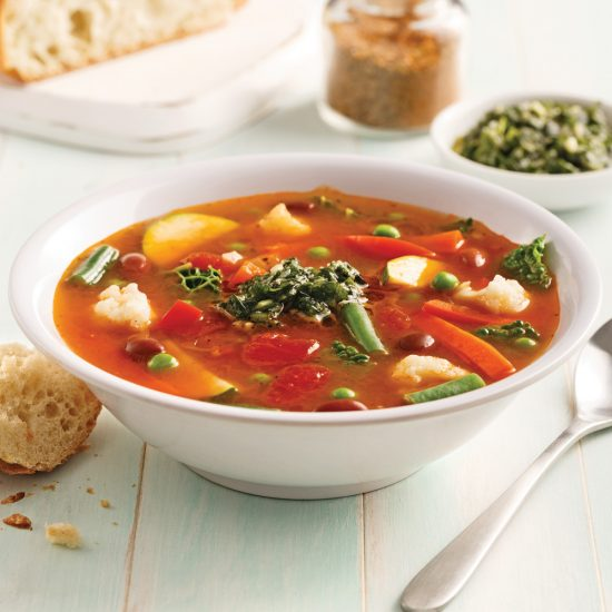 Minestrone Soup with Kidney Beans
