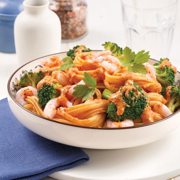 Shrimp Linguine with Rosé Sauce