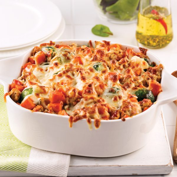 Ground Chicken and Sweet Potato Casserole