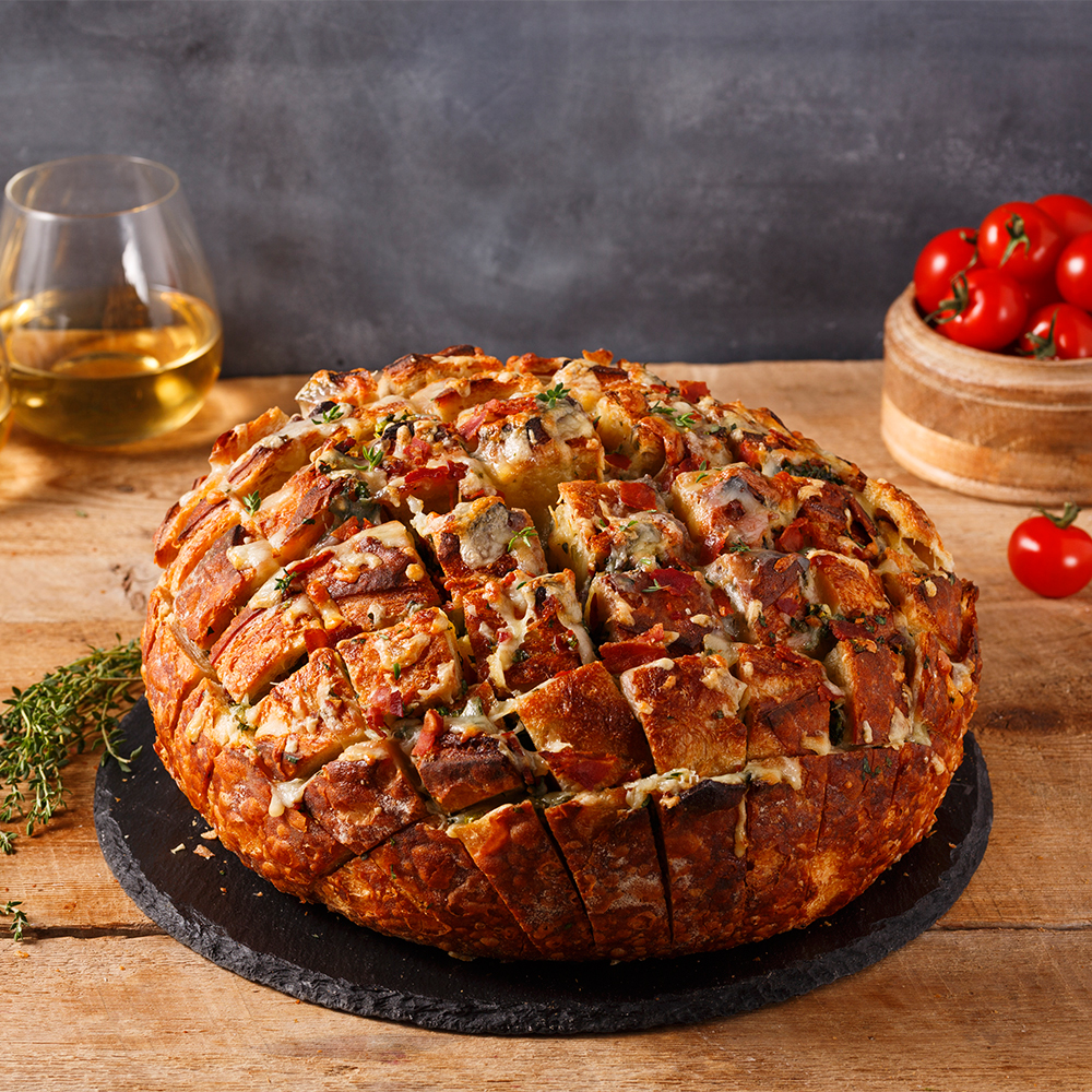 Cheese and Pancetta Stuffed Bread