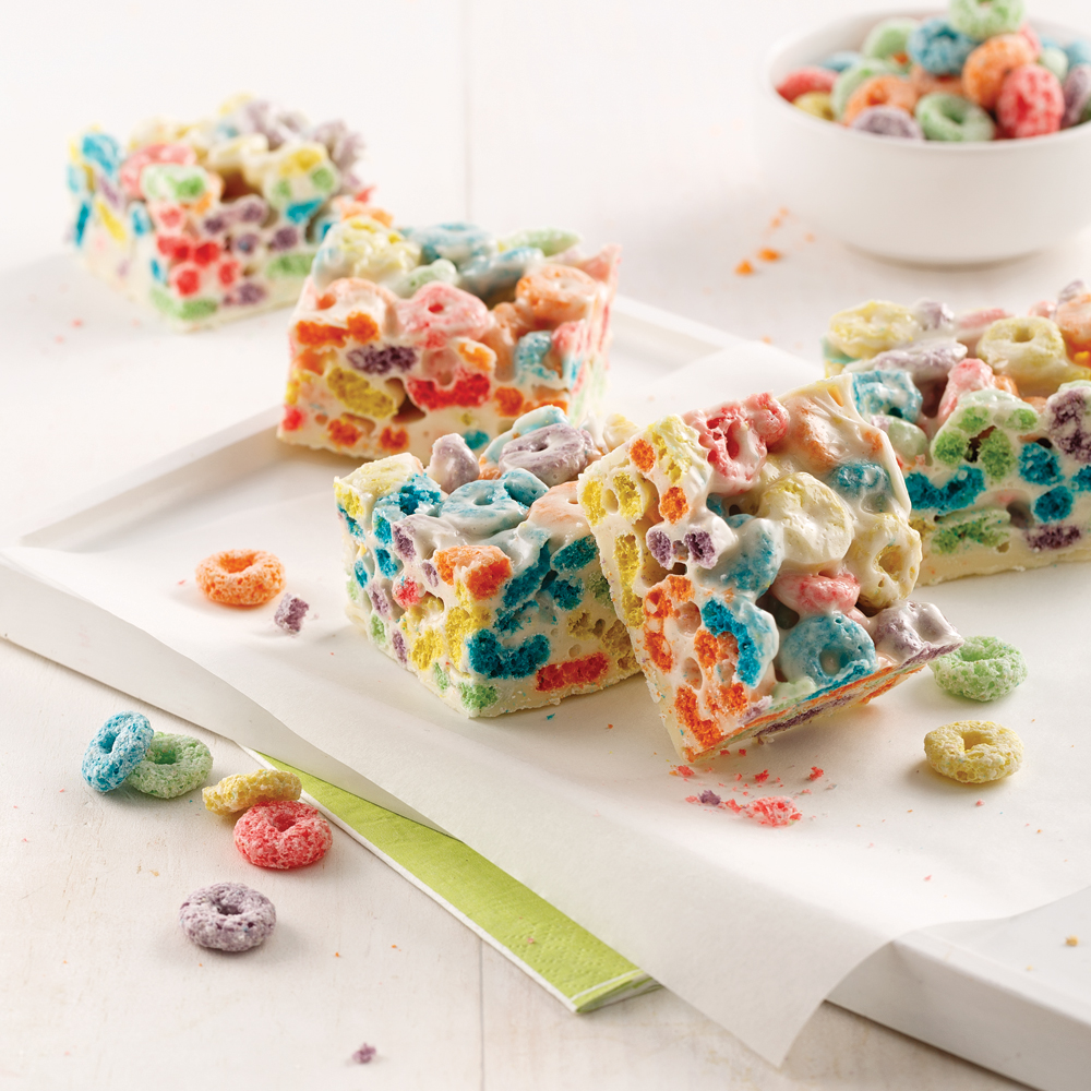 White Chocolate Rainbow Treats