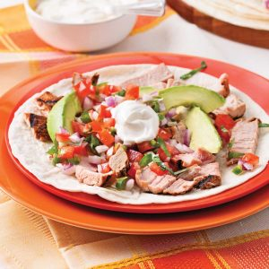 Pork Fajitas with Pico de Gallo