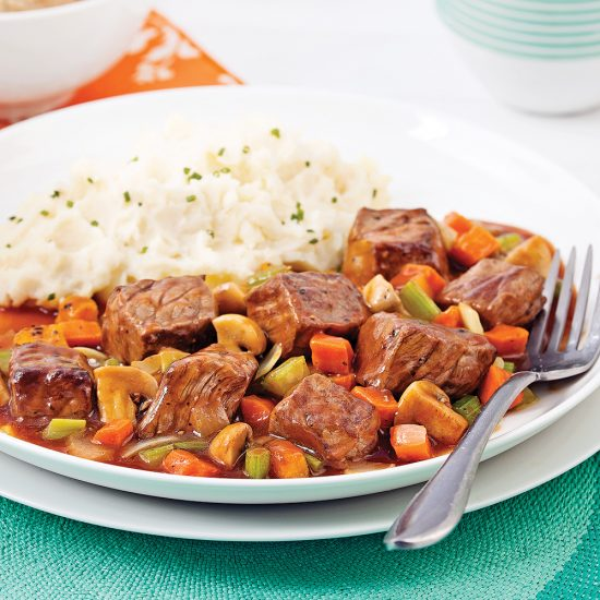 Beer-braised Beef and Vegetables