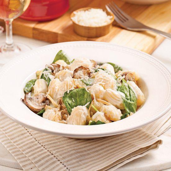 Spinach and Mushroom Gnocchi