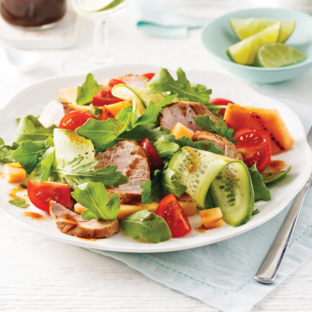 Grilled Pork and Cantaloupe Salad