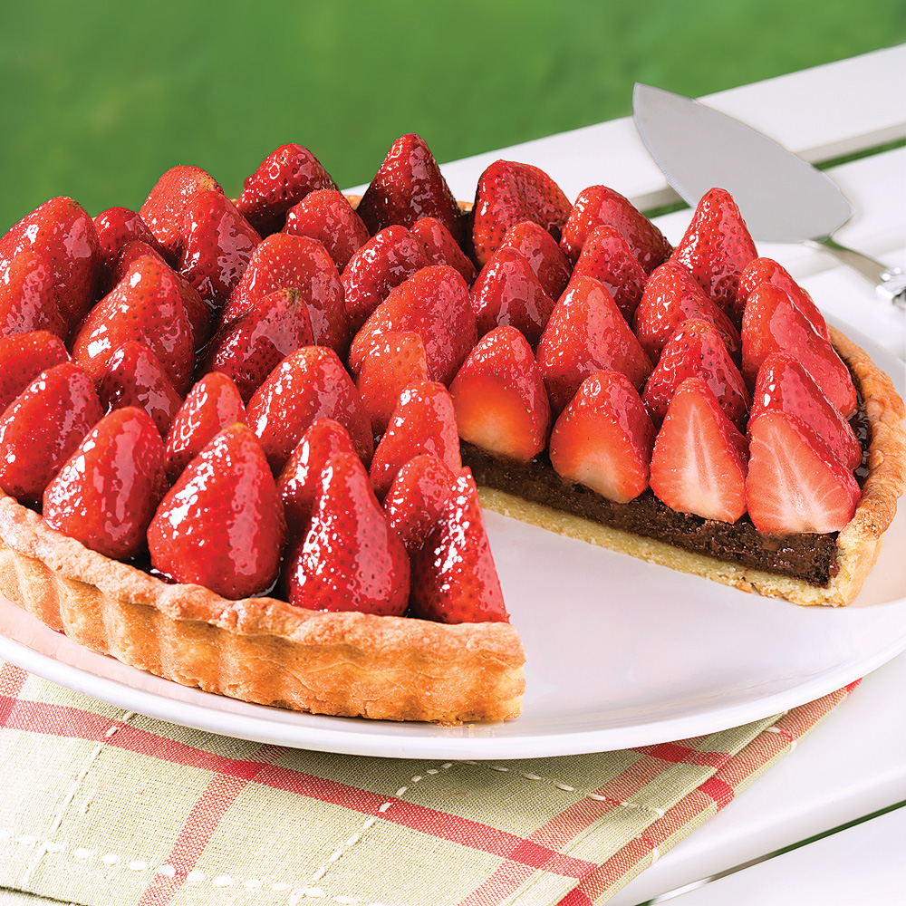 Chocolate Strawberry Pie 5 Ingredients 15 Minutes
