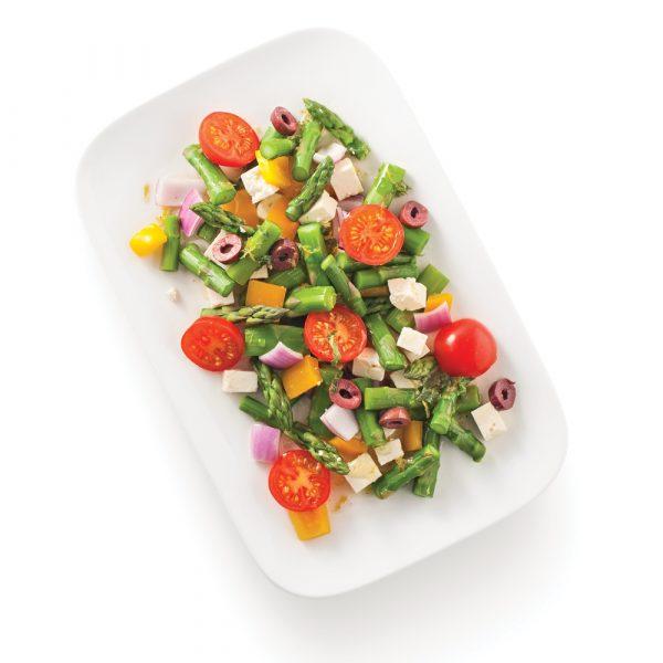 Asperges en salade à la grecque