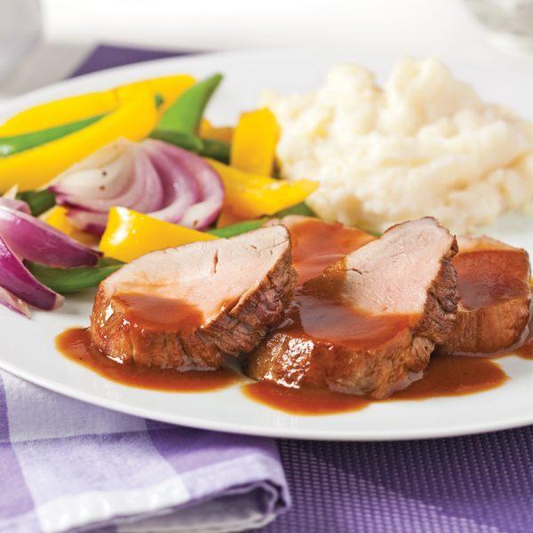 Filets de porc à la bière et mélasse
