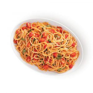 Spaghetti à la crème de tomate