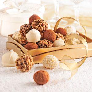 Duo de truffes au chocolat