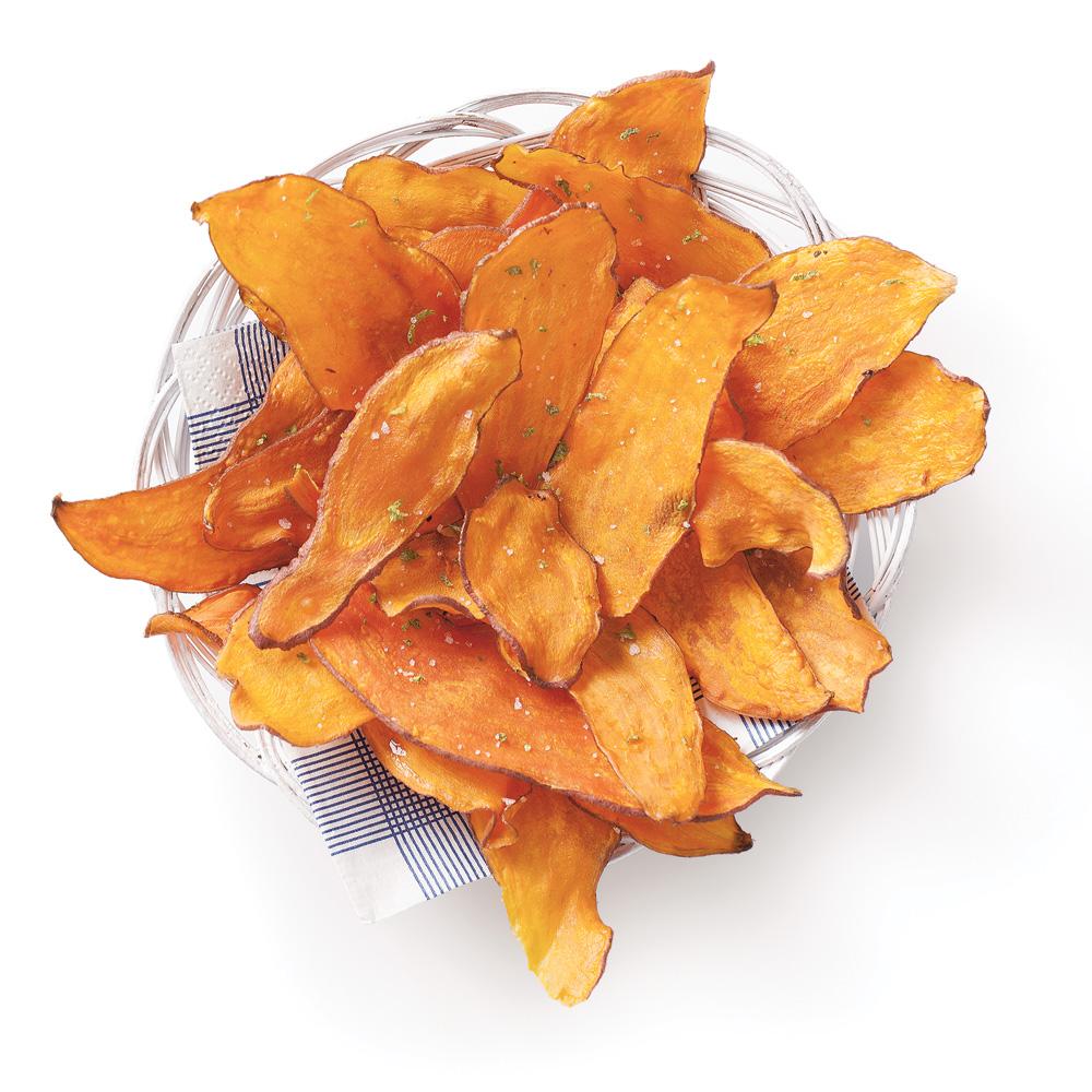 Chips de patate douce au parfum de lime