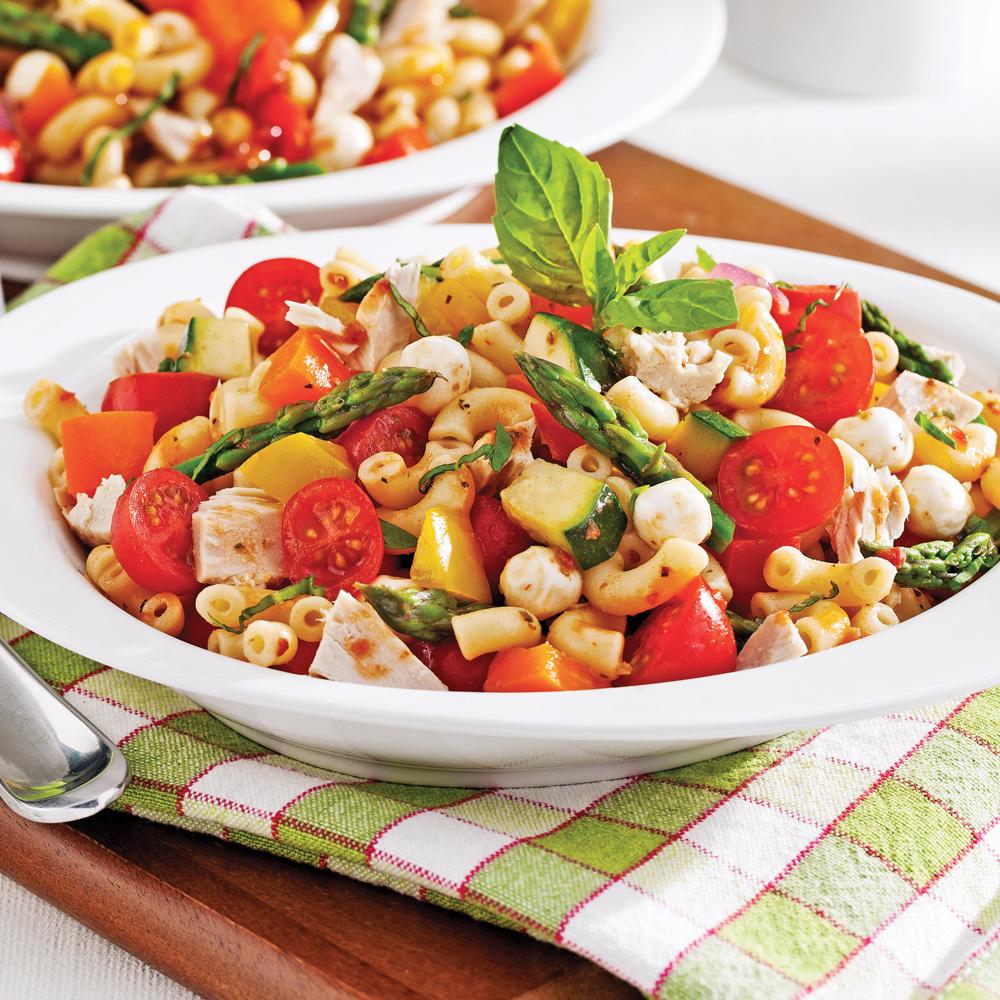 Salade de pâtes sans gluten au thon et aux légumes