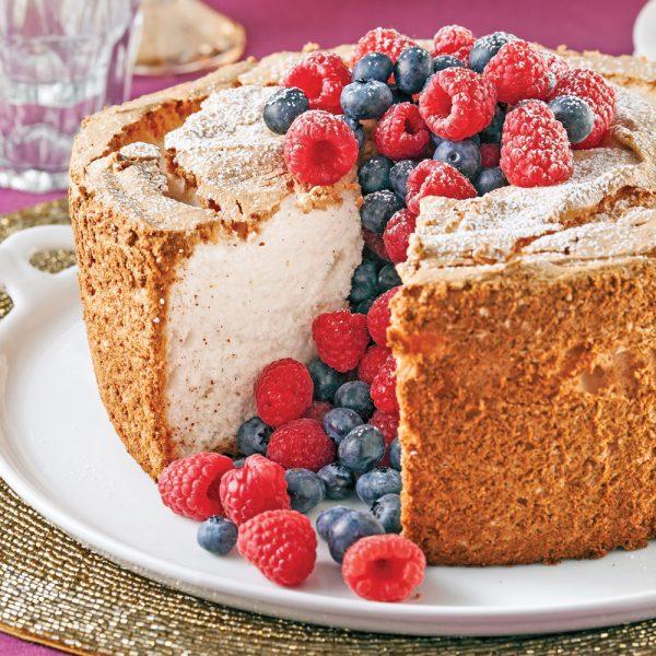 Gâteau des anges sans gluten