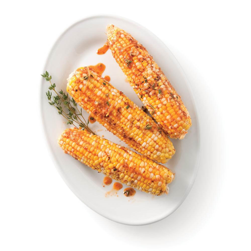 Maïs grillés aux fines herbes et citron