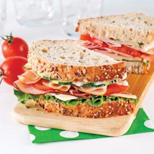 Sandwichs jambon et dinde