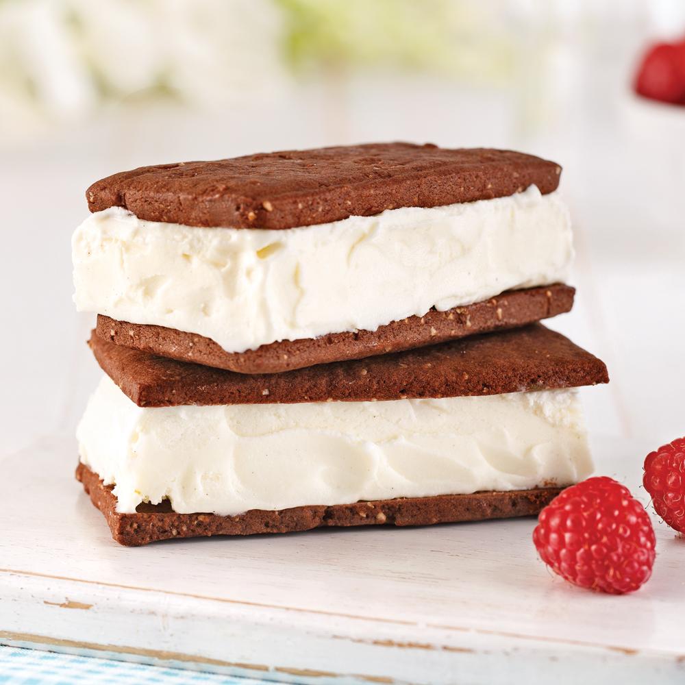 En étapes: sandwichs à la crème glacée maison