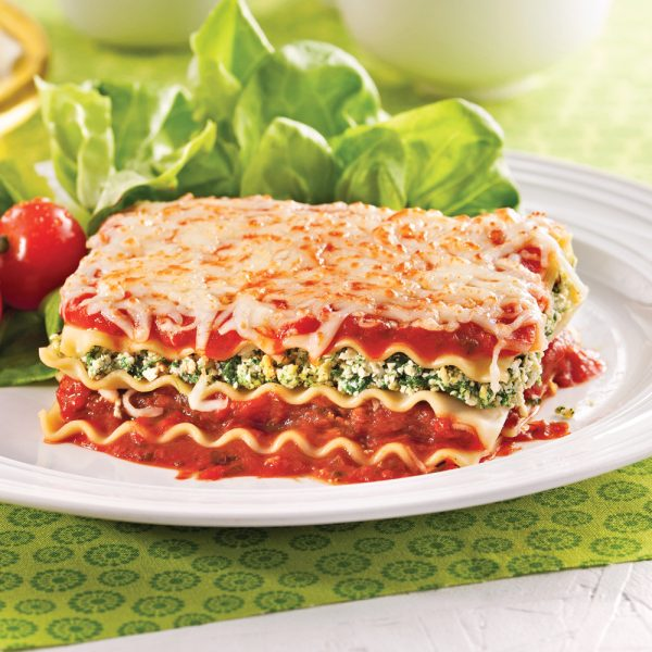 Lasagne végé aux épinards