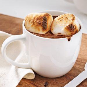 Chocolat chaud aux guimauves grillées