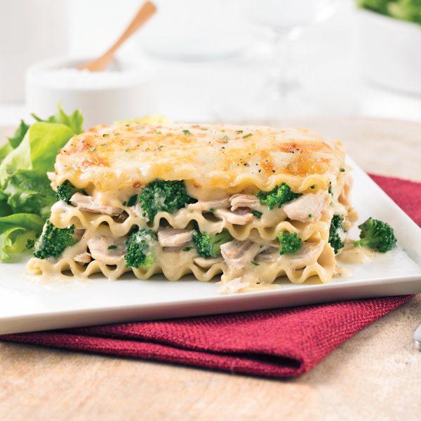 Lasagne au poulet et brocoli