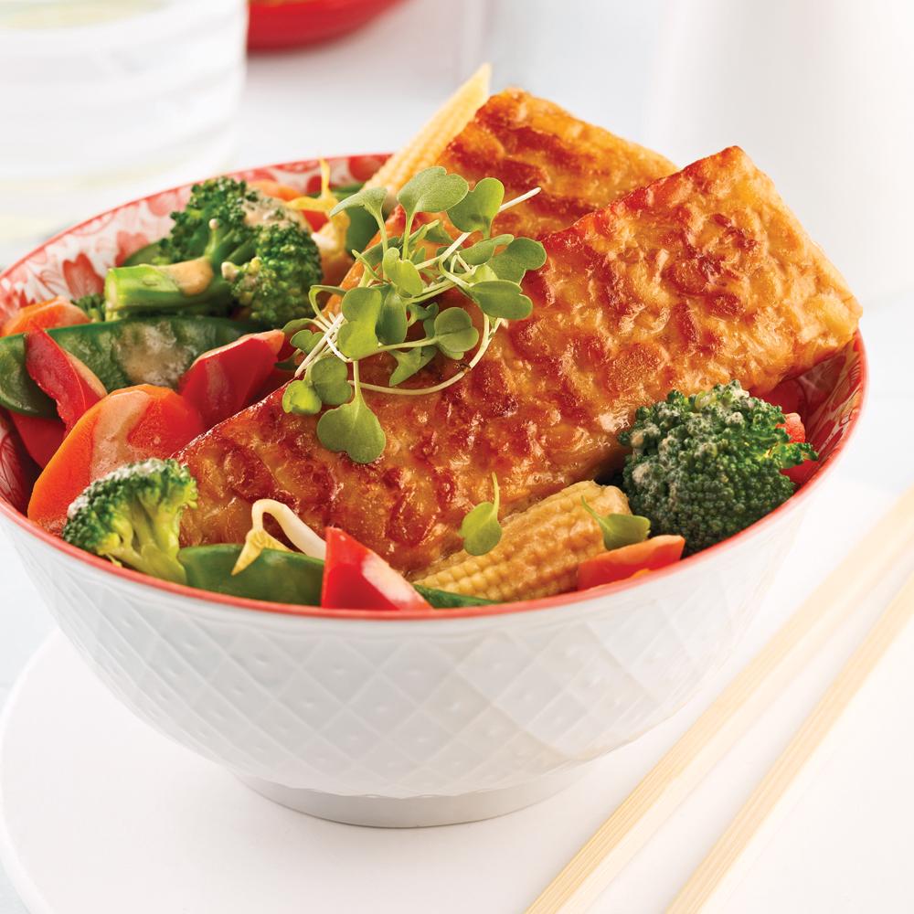 Tempeh asiatique aux légumes