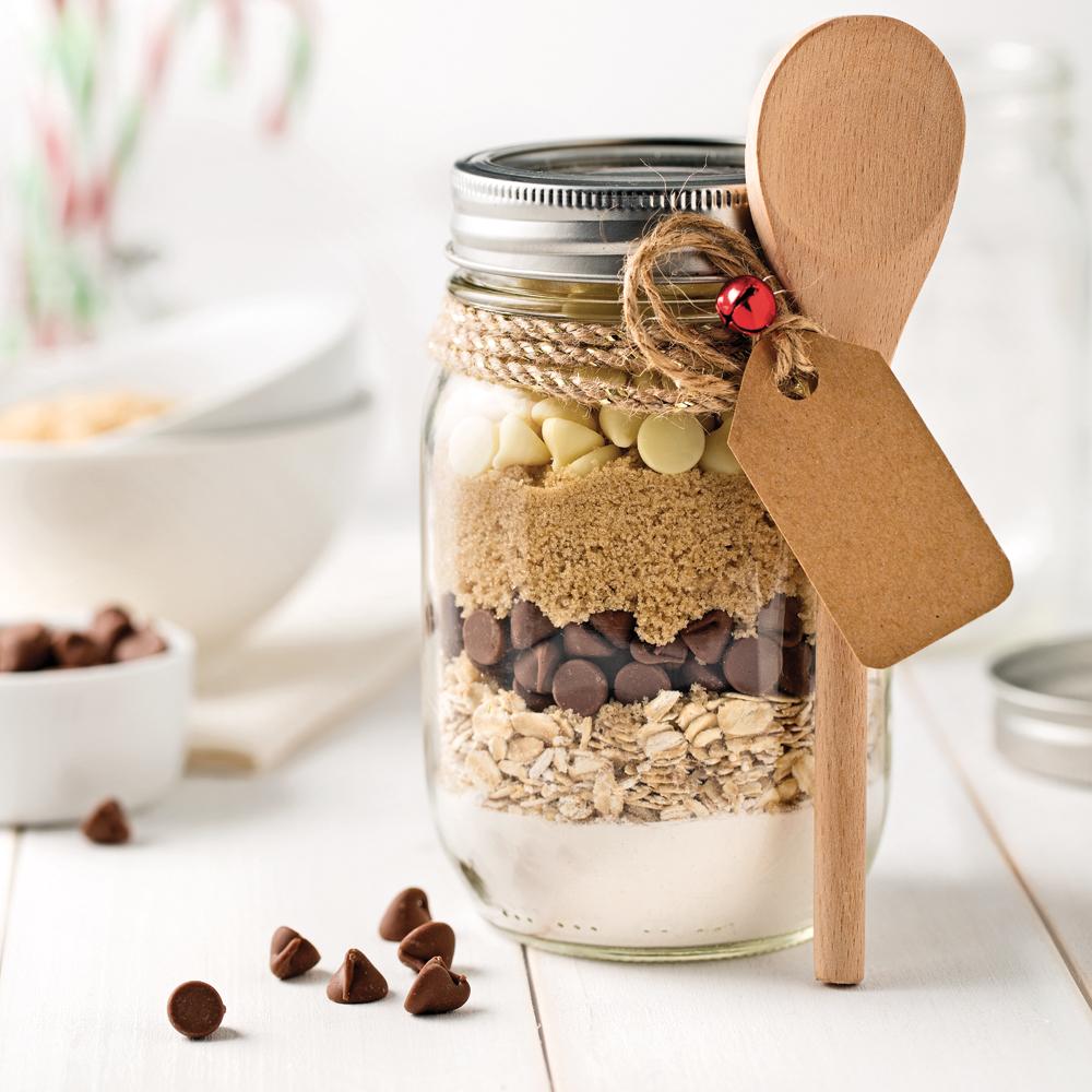 Pot de préparation pour biscuits aux pépites de chocolat et flocons d'avoine