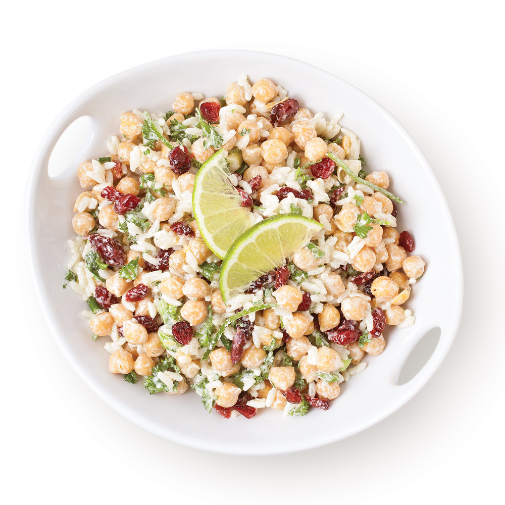 Salade de pois chiches avec riz