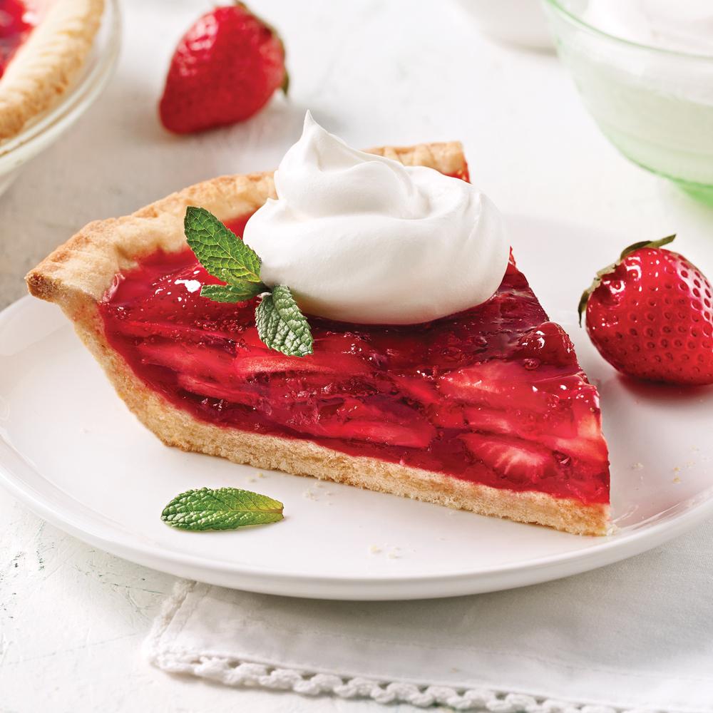 Tarte aux fraises et crème fouettée