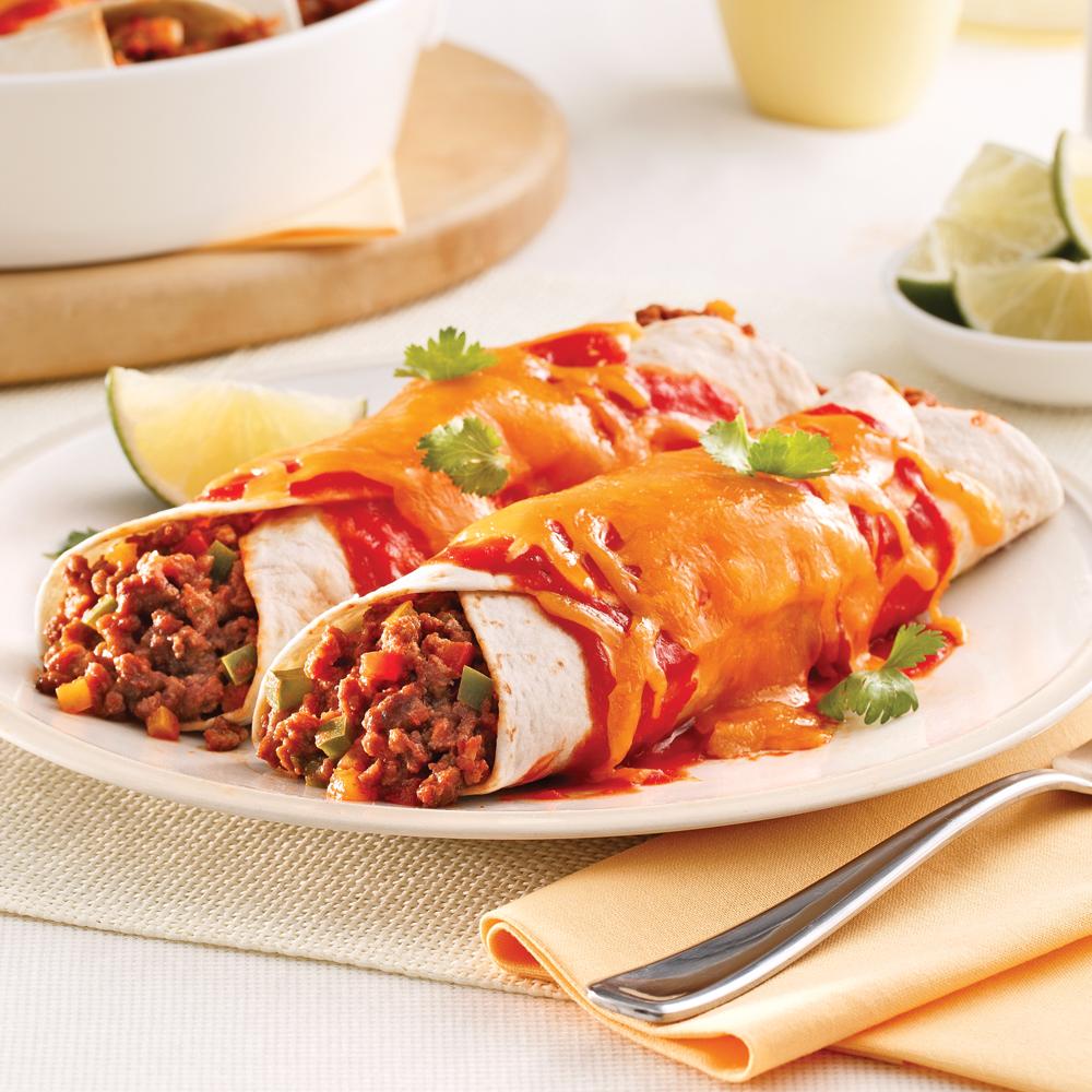 Enchiladas au boeuf haché