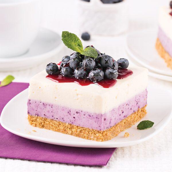 Gâteau au fromage et bleuets