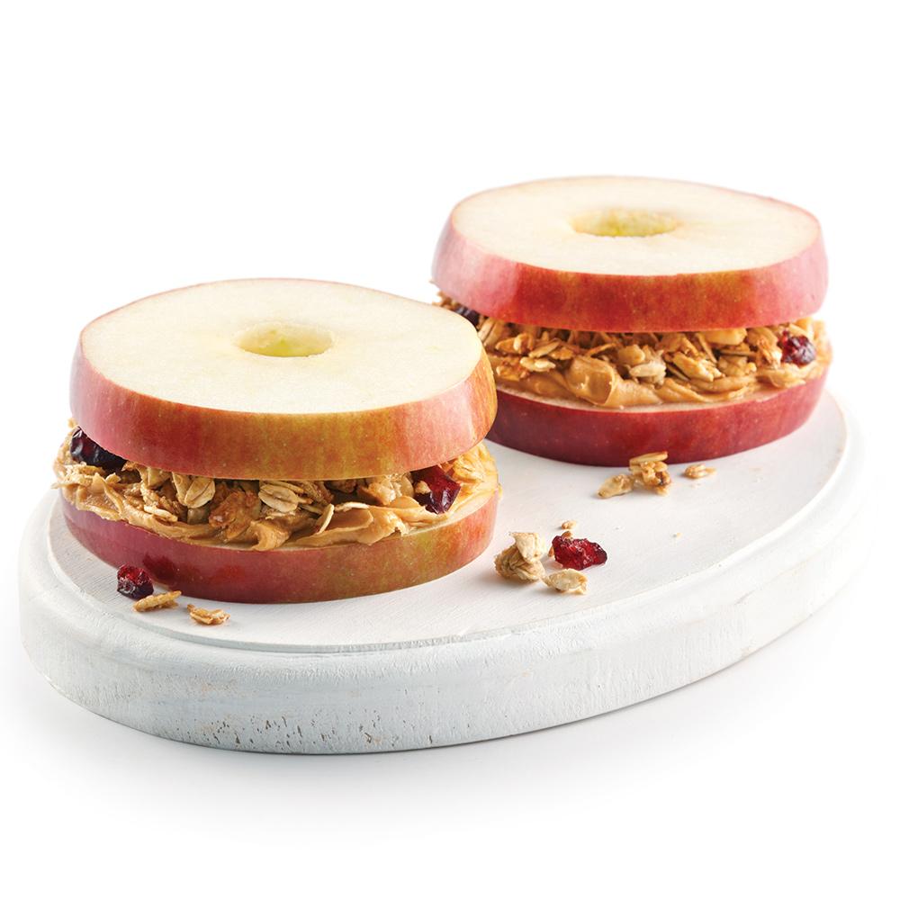 Idée de collation santé: sandwich aux pommes