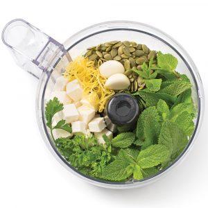 Pesto à la menthe et feta
