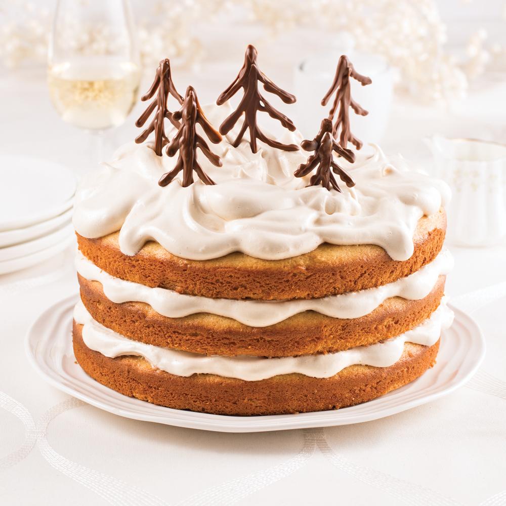 Gâteau à l'érable, glaçage meringué