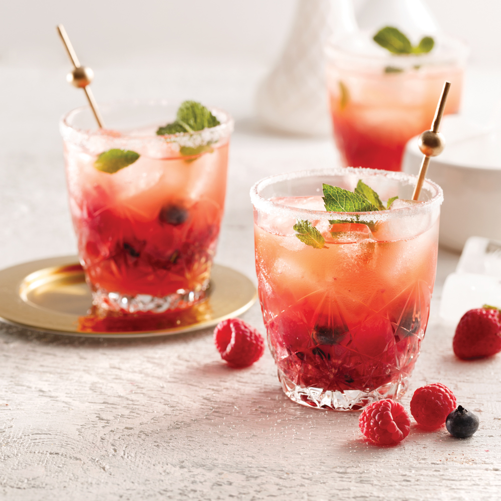 Cocktail gin-berry