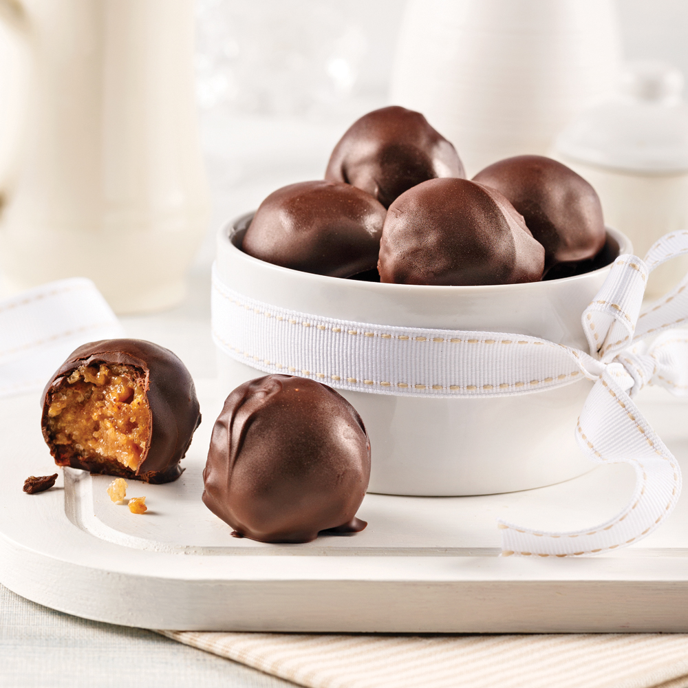 Boules croustillantes au beurre d'arachide et chocolat