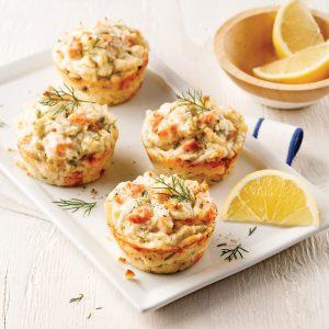 Mini-pains au saumon et pommes de terre